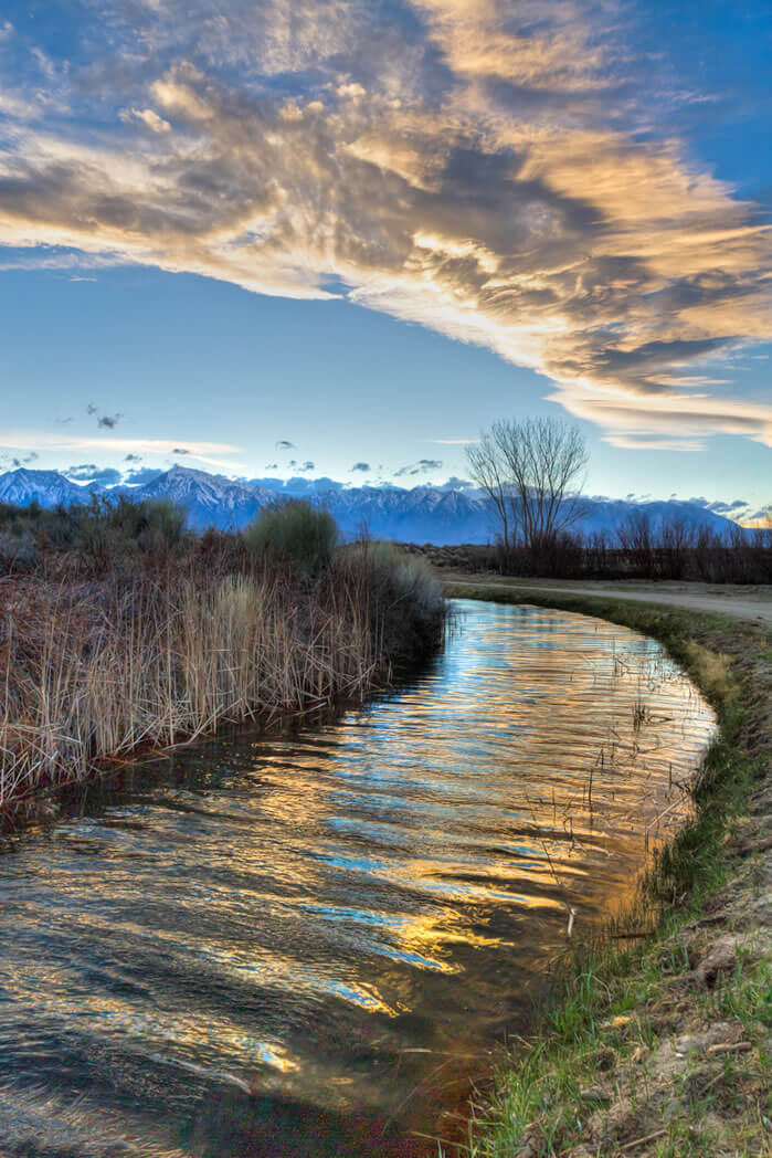 sunset near buckley ponds by Witten, Inyo County